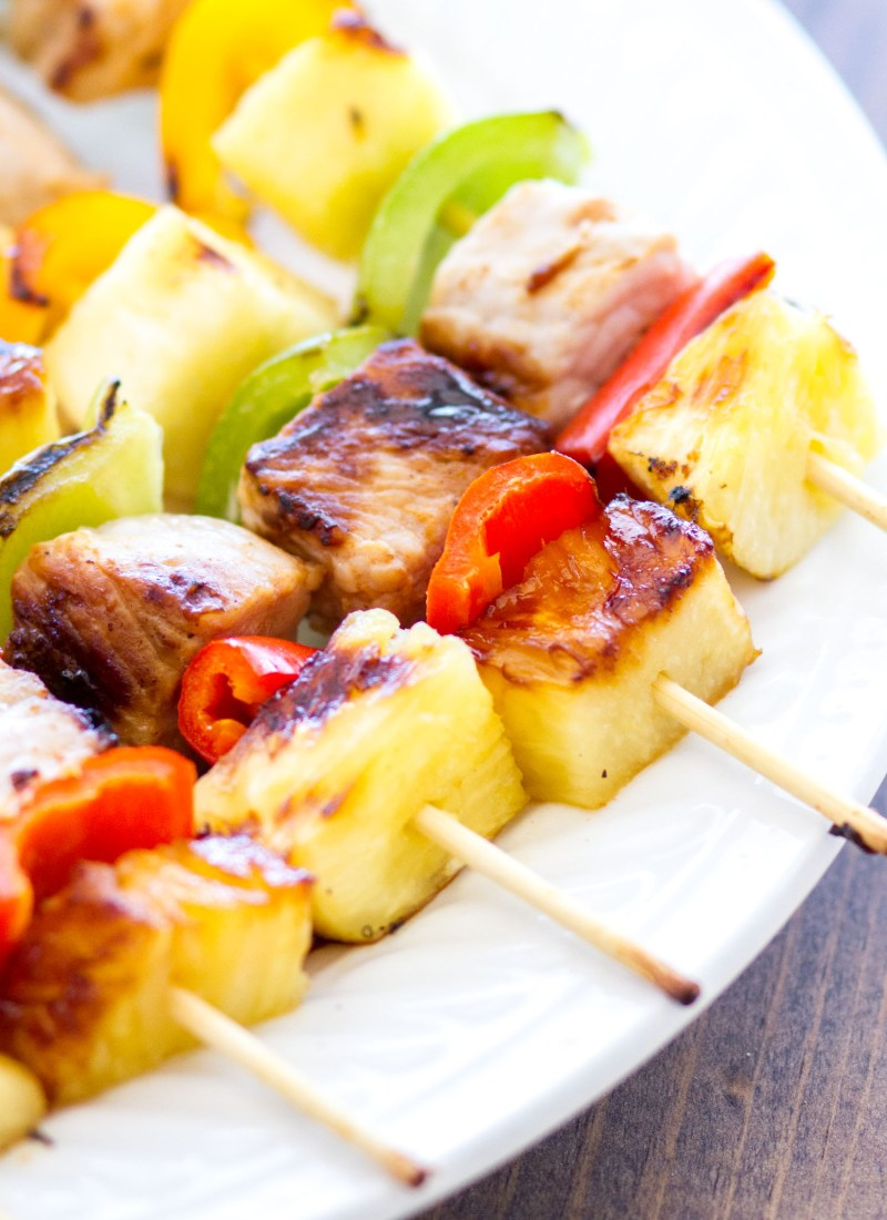 Sweet & Savory Hawaiian Pork Kabobs