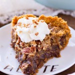German Chocolate Pecan Pie with Graham Cracker Crust