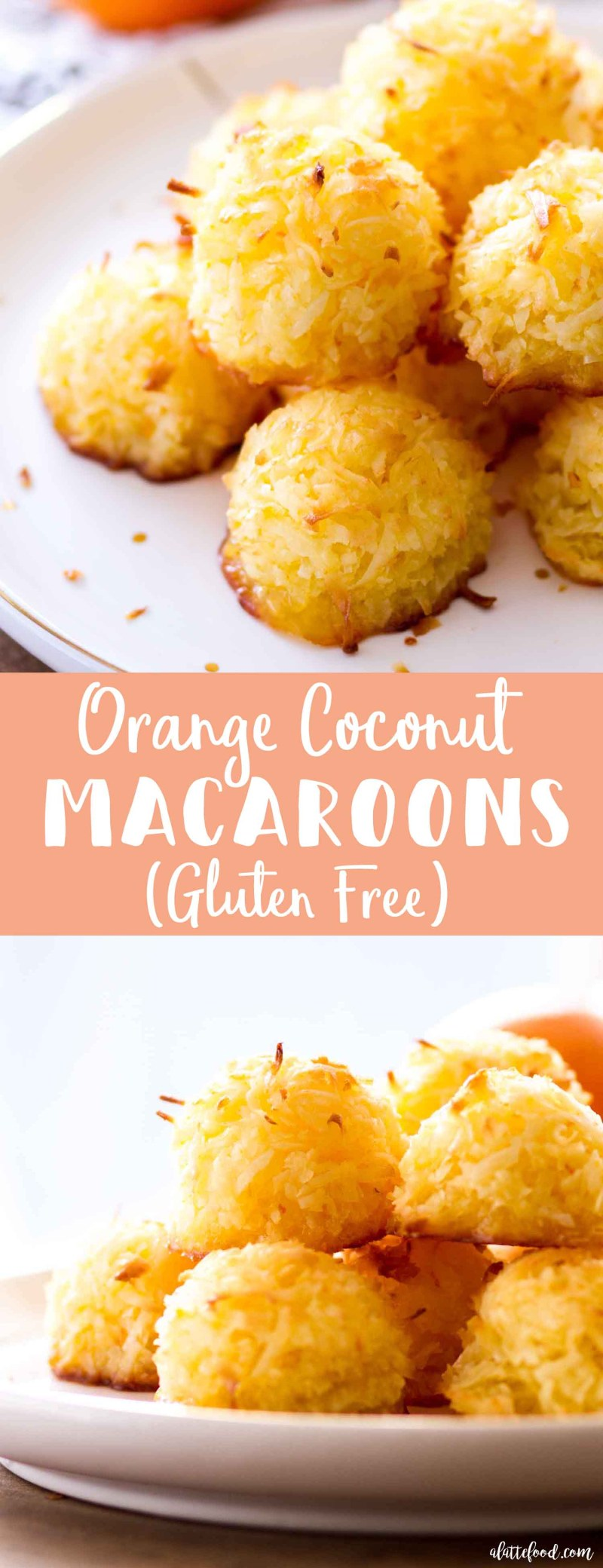 These homemade Orange Coconut Macaroons are sweet, simple, and such a perfect spring or summer dessert!This Orange Coconut Macaroon recipe is made with only a few ingredients, including fresh orange zest and orange juice! Whole eggs and a little bit of butter make these chewy coconut macaroons extra rich. Plus, these easy coconut macaroons are naturally gluten free!