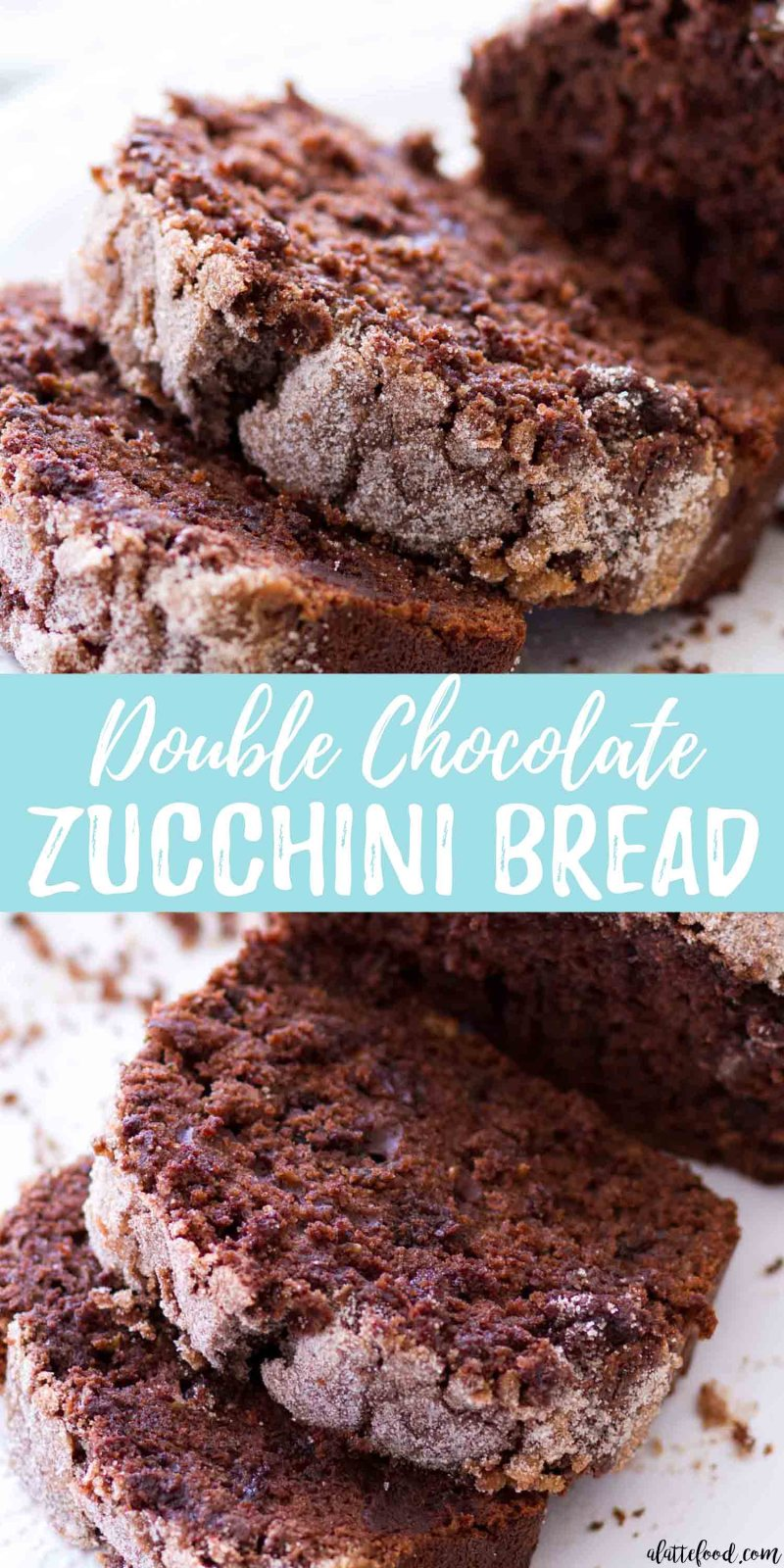 This Double Chocolate Zucchini Bread recipe is rich, fudgy, and full of sweet chocolate flavor. Homemade zucchini bread is so simple to make and when topped with a cinnamon sugar crust, this double chocolate zucchini bread is irresistible! the best chocolate zucchini bread, zucchini bread with chocolate chips
