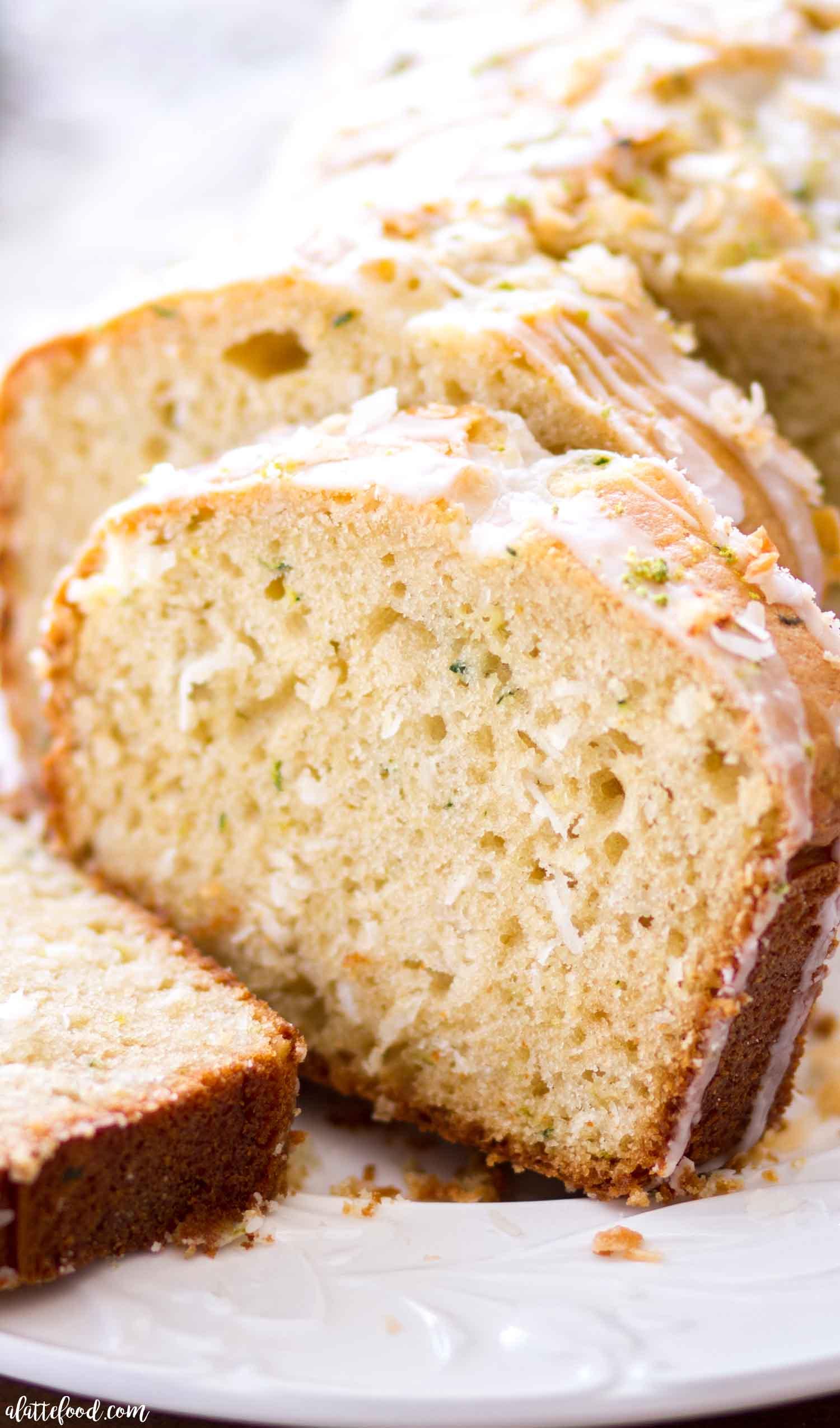 Lime Coconut Zucchini Bread Recipe - A Latte Food