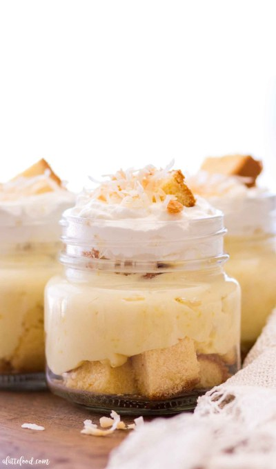 This No Bake Coconut Lemon Trifle recipe is made with layers of buttery pound cake (you can use homemade pound cake or store bought pound cake), coconut lemon pudding, and homemade lemon whipped cream. It's an easy no bake dessert recipe that's perfect for the summer season!