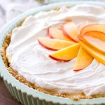 No Bake Peach Cream Pie