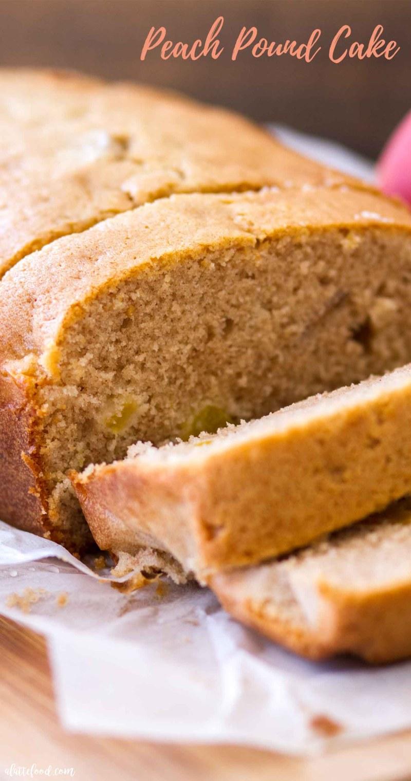 slices of peach pound cake recipe