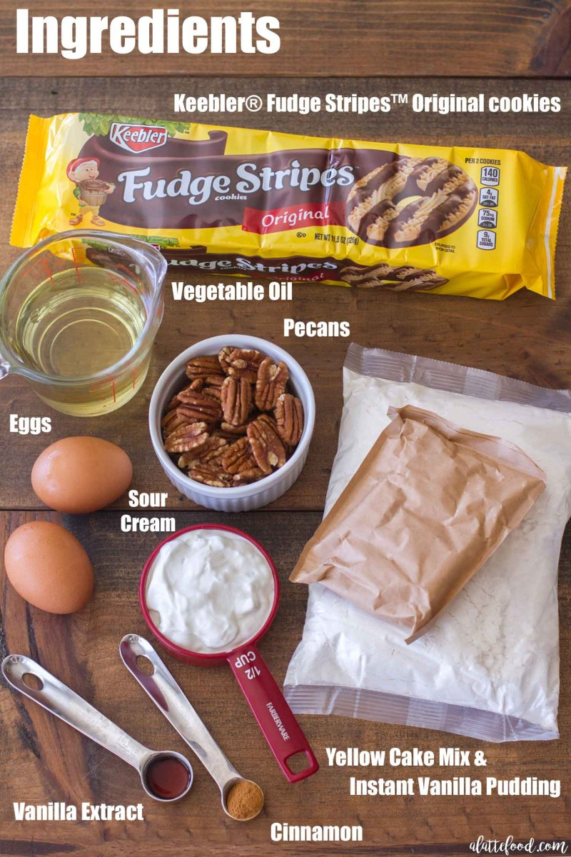 Fudge Stripe Coffee Cake Recipe Made with Easy Ingredients