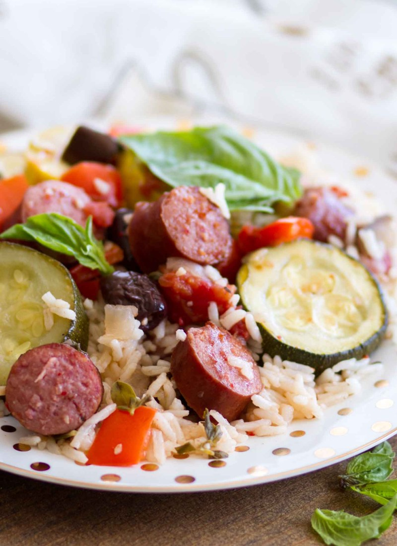 Roasted Ratatouille Bowl (with Hillshire Farm® Beef Smoked Sausage & Uncle Ben's® Ready Rice® Jasmine)