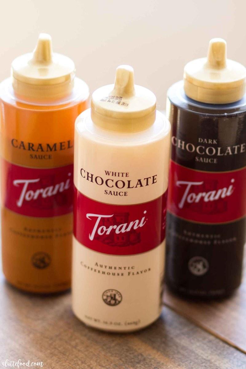 Torani Sauce Bottles