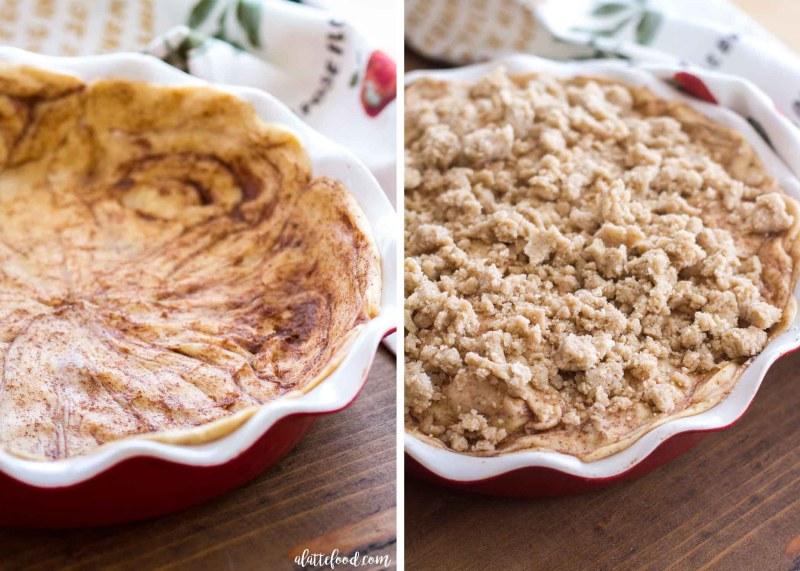 Cinnamon Roll Dutch Apple Pie steps