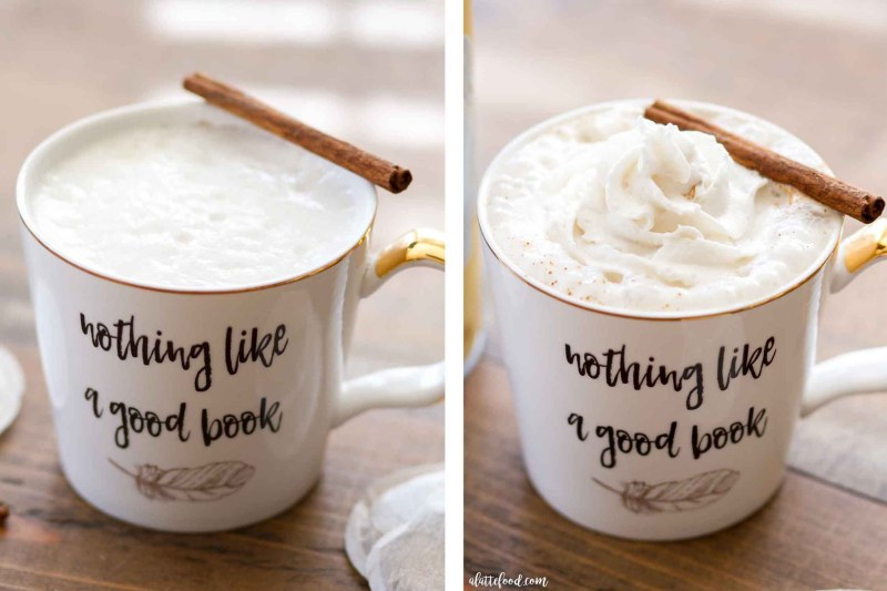 Easy chai latte and how to froth almond milk