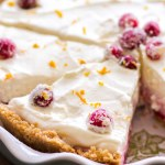 No Bake Cranberry Orange Cream Pie