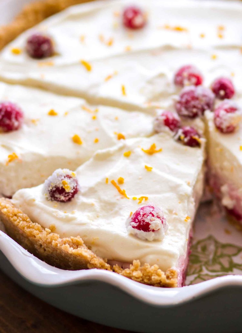 This homemade No Bake Cranberry Orange Cream Pie recipe is a simple holiday dessert.