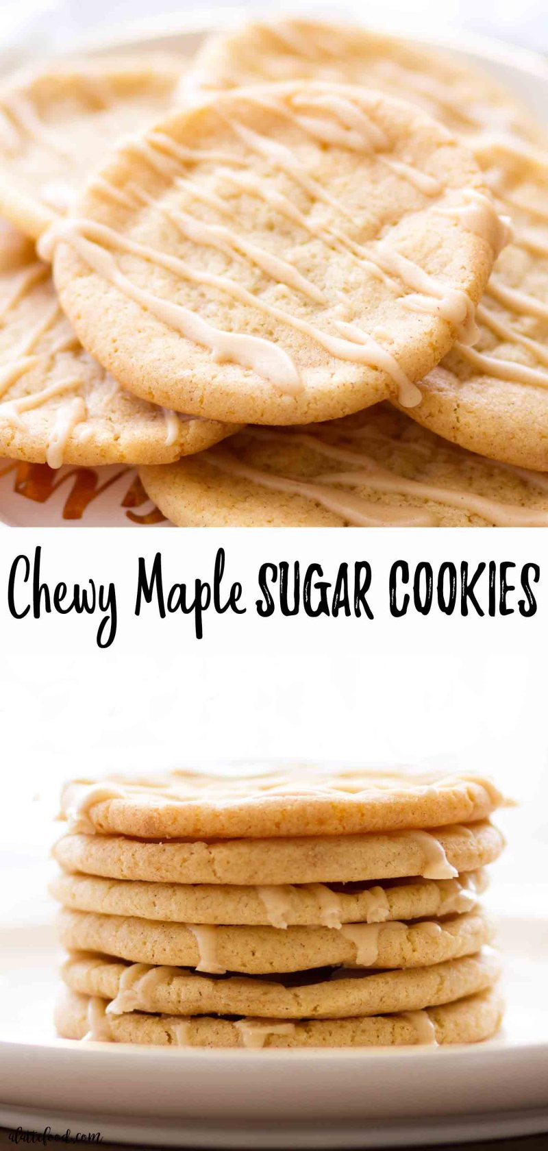 These easy maple sugar cookies are perfectly chewy.