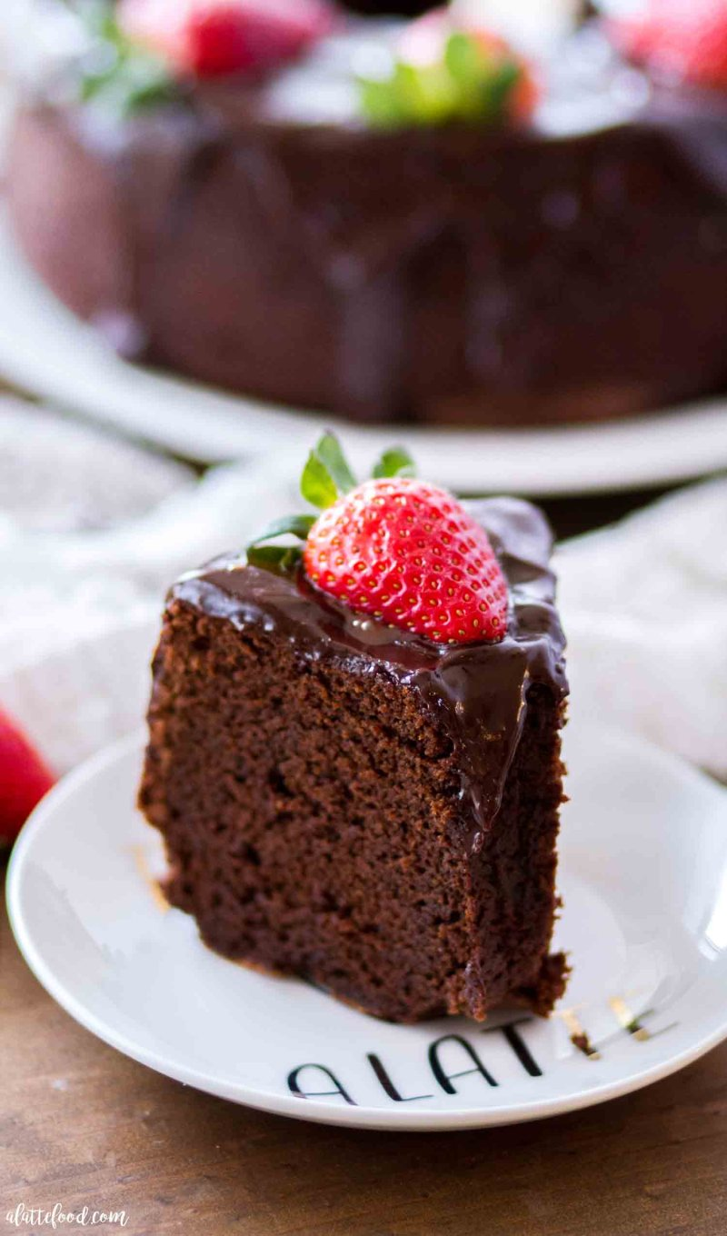 A slice of this easy chocolate pound cake recipe makes the best chocolate dessert.