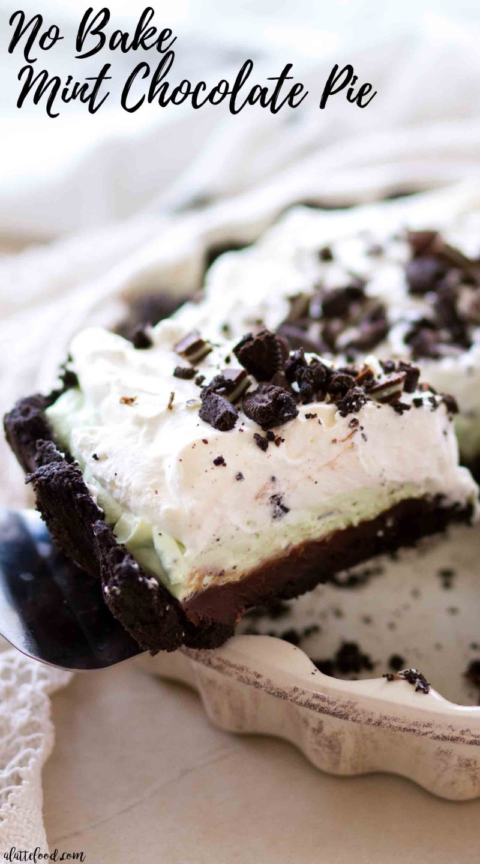 The best no bake mint chocolate cream pie recipe