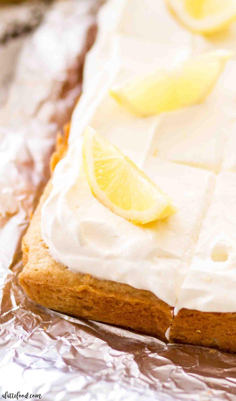 Easy lemon frosted lemon blondies