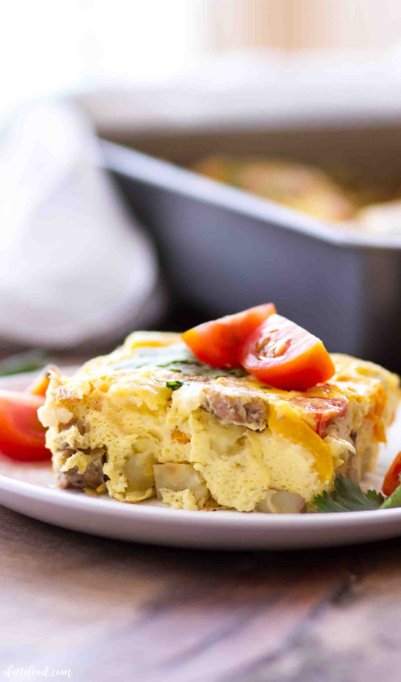 Easy Southwestern Potato and Sausage Breakfast Casserole