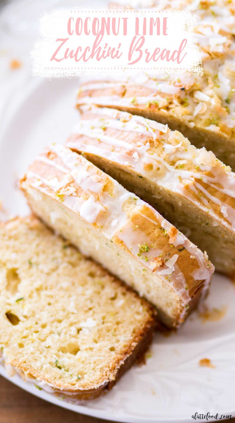 zucchini quick bread loaf cut in thick slices