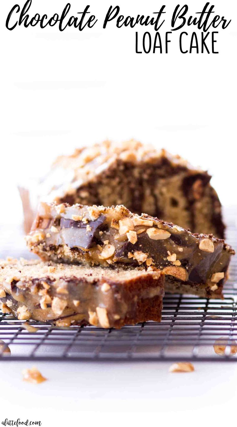 The best chocolate peanut butter loaf cake