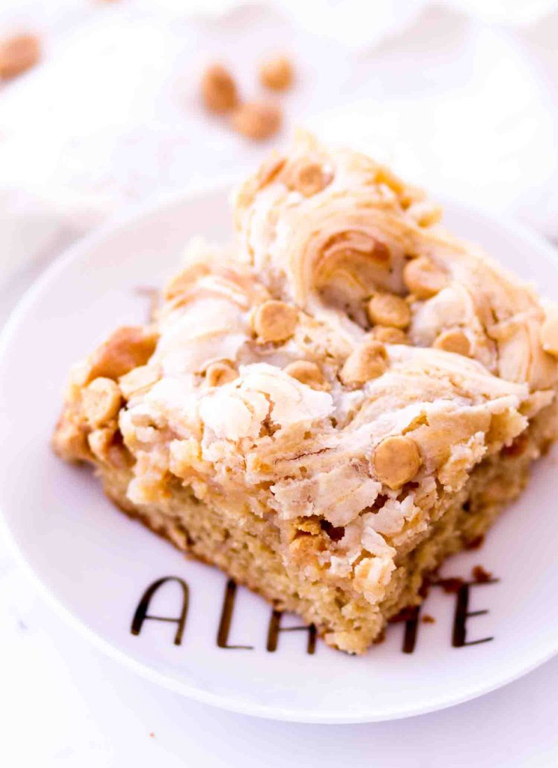 Easy peanut butter earthquake cake with cream cheese filling