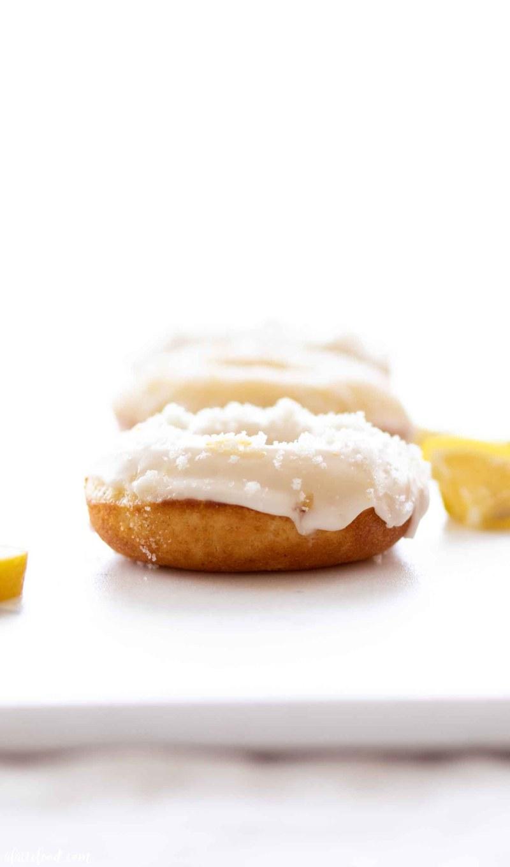 lemon glazed donuts baked