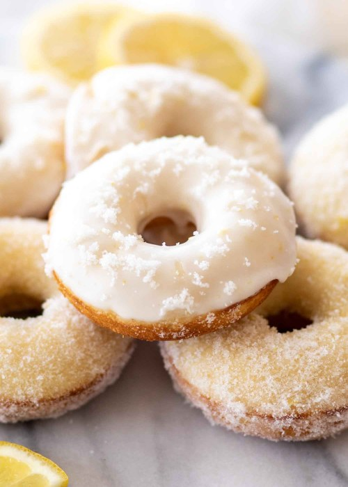 easy baked donuts with lemon glaze