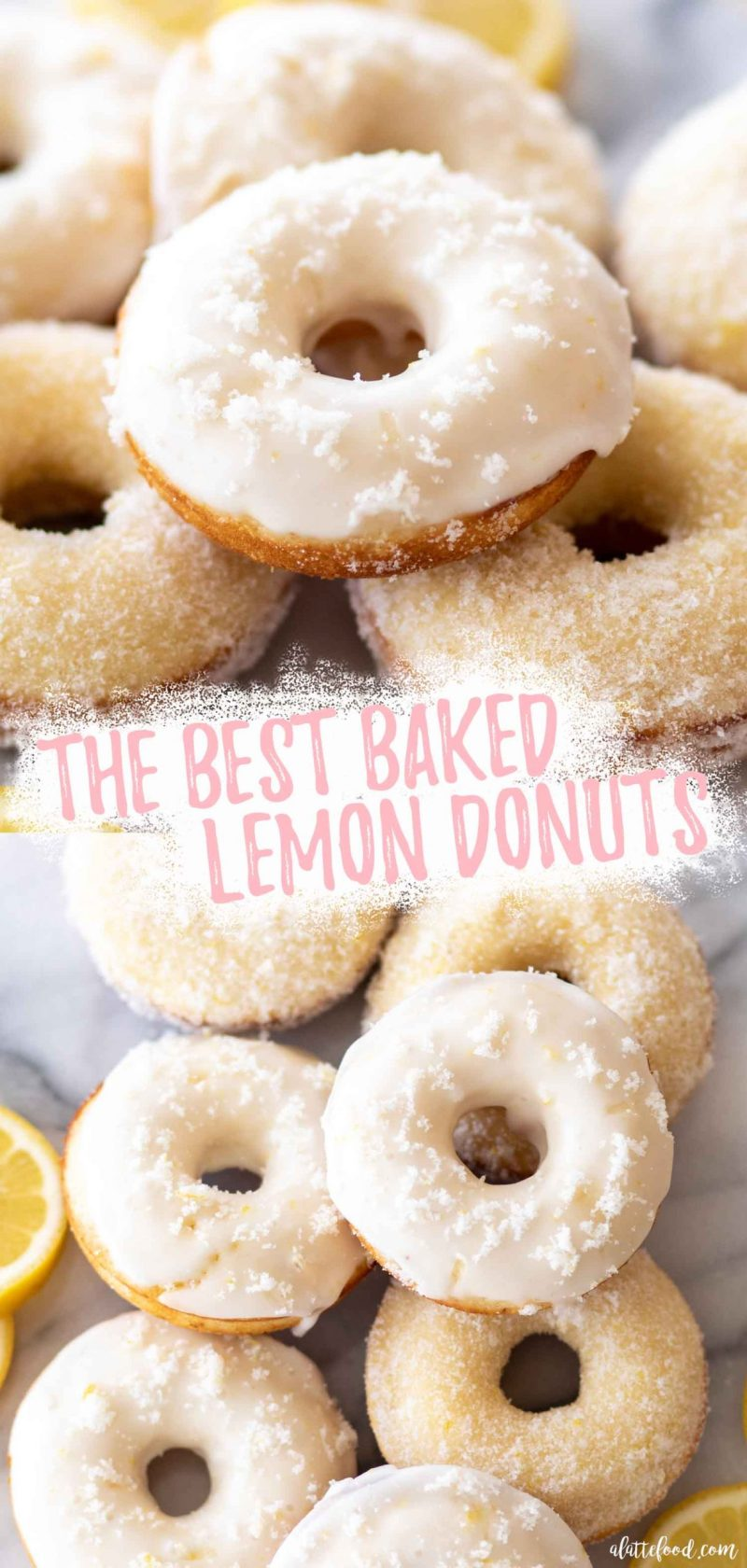 lemon donuts baked and topped with lemon sugar