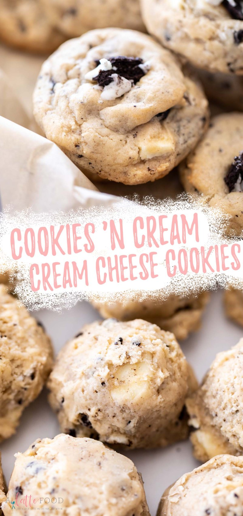 Cookies & Cream Cream Cheese Cookies collage