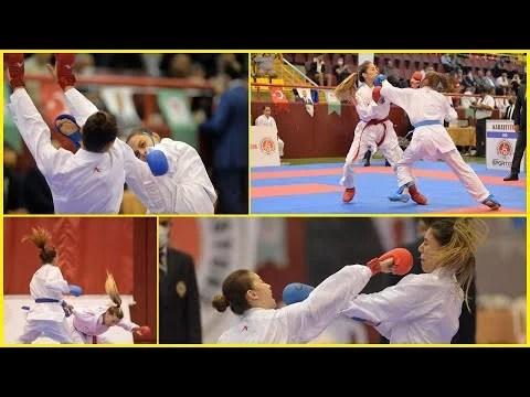 Kadın Karatecilerin Müsabakaları Nefes Kesti