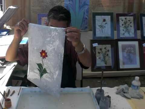 Anatolian Festival Orange County , Ebru Sanati, Paper Marbling
