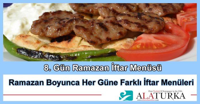 8 Gun Ramazan Iftar Menusu