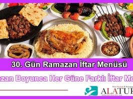 30 Gun Ramazan Iftar Menusu