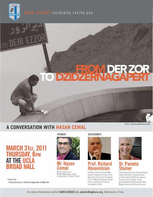 """Hasan Cemal Los Angeles'da Ermeni Öğrenci Derneğinin Düzenlediği Etkinlikte """"Soykırım"""" Hakkında Konuşacak"""