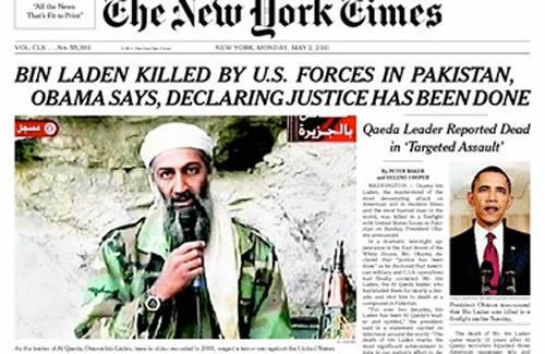 Amerikan basınında Bin Ladin manşetleri