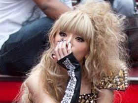 Japon Lady Gaga Times Meydanı'nda