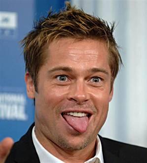 Brad Pitt gazetecilik terkmiş