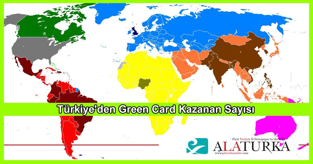 Türkiye'den Green Card Kazanan Sayısı