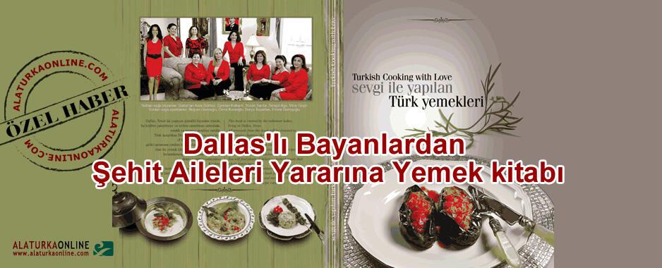 Dallas'lı Bayanlardan Şehit Aileleri Yararına Yemek kitabı