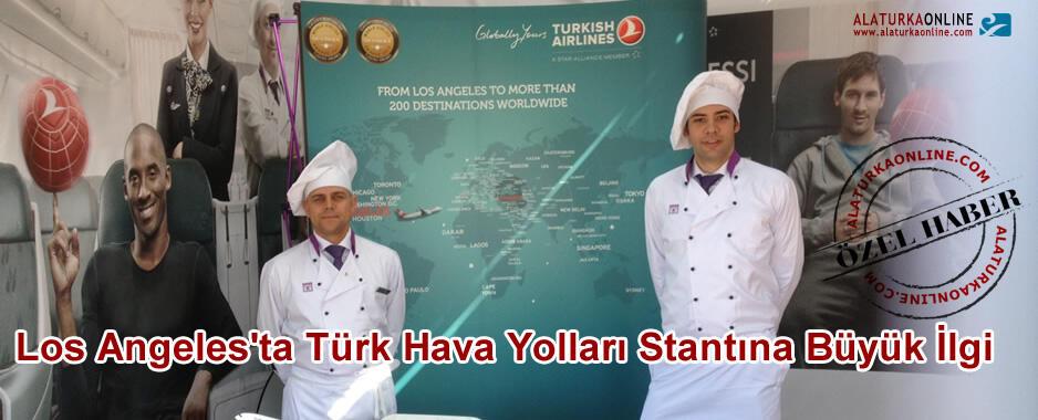 Türk Hava Yolları Stantına Los Angeles'ta Büyük İlgi