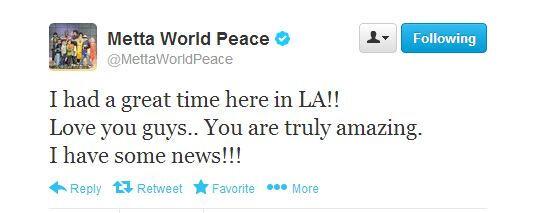 metta peace tweet los angeles