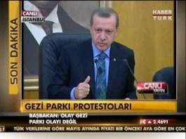 Recep Tayyip Erdogan Gezi Parki