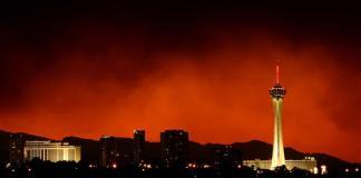 Las Vegas duman altında
