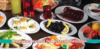 Ramazan Ayinda Tok Tutacak Besinler