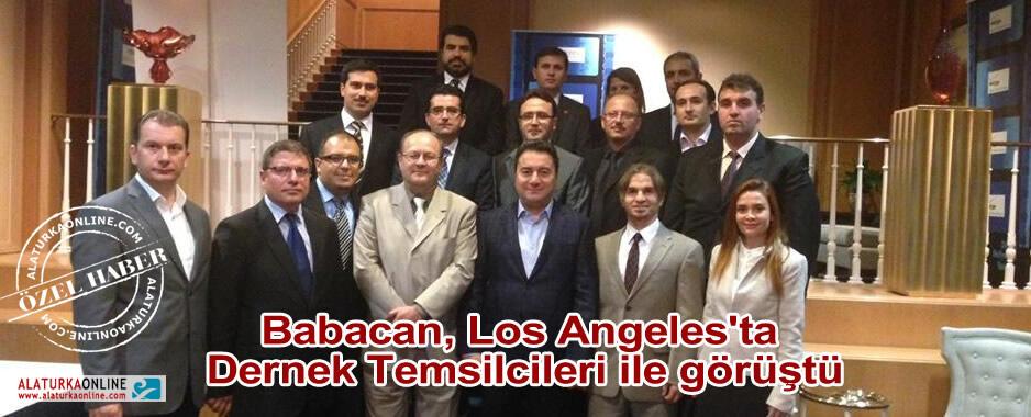 Babacan, Los Angeles'ta Dernek Temsilcileri ile görüştü