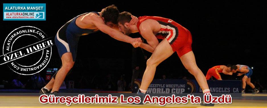 Güreşcilerimiz Los Angeles'ta Üzdü