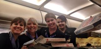 frontier airlines pizza party