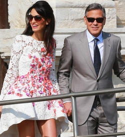 George Clooney ve Amal Alamuddin evlendi