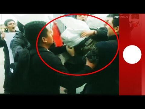İstanbul'da Amerikan Askerinin Başına Çuval Geçirildi