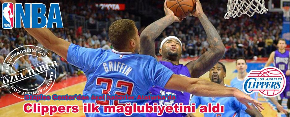 Clippers ilk mağlubiyetini aldı