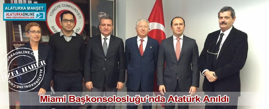 Miami Başkonsolosluğu'nda Atatürk Anıldı