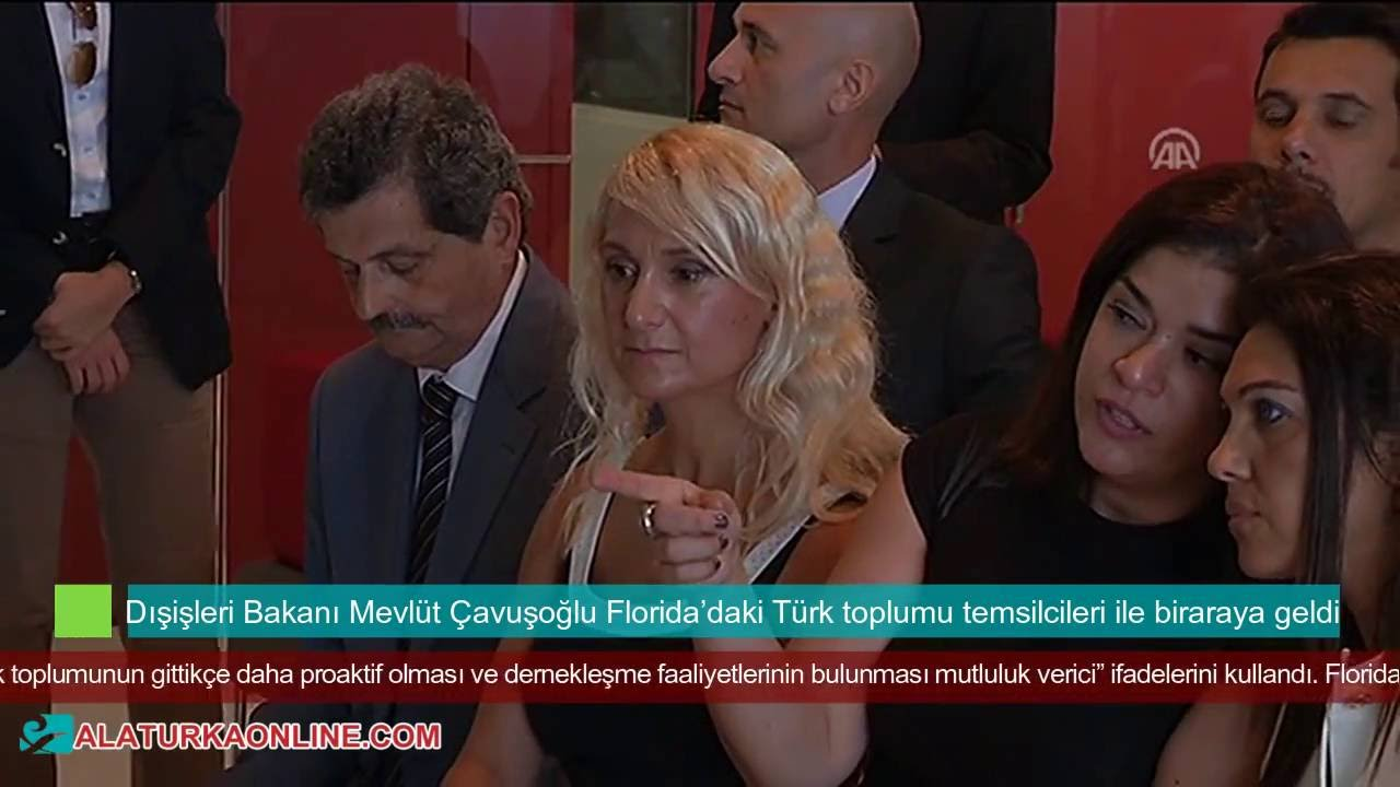Dışişleri Bakanı Mevlüt Çavuşoğlu Florida'daki Türk toplumu temsilcileri ile biraraya geldi